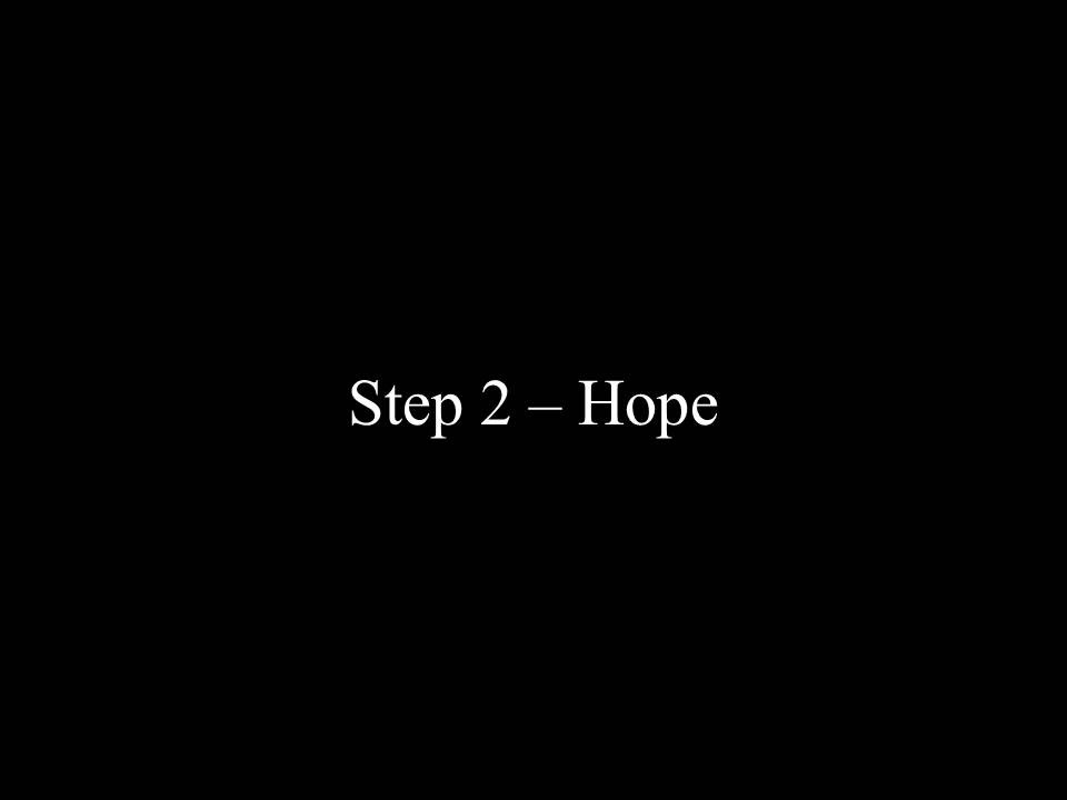 Step 2: Hope.